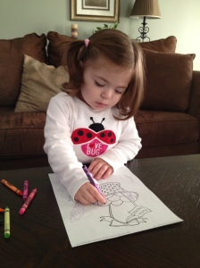 coloring Easter picture
