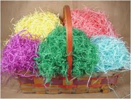 easter basket with grass