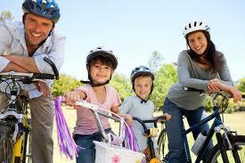family bike ride