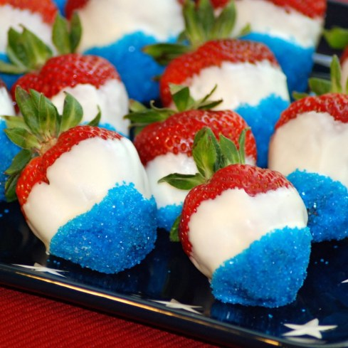 Red White and Blue Berries