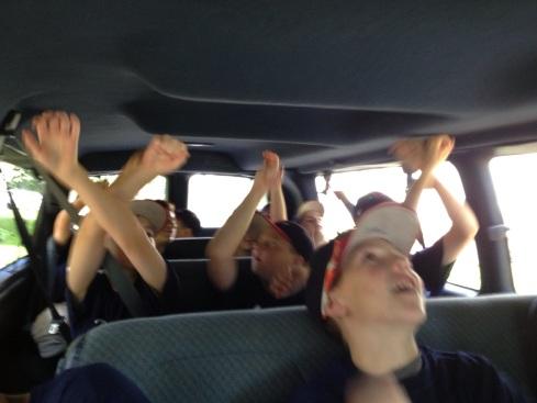 singing in van