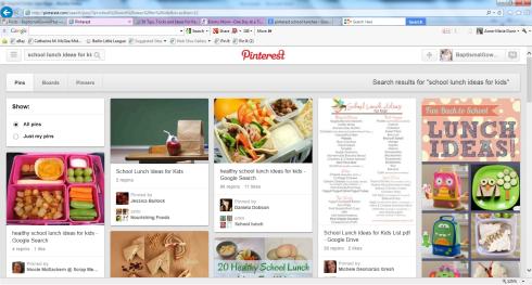 Pinterest school lunches