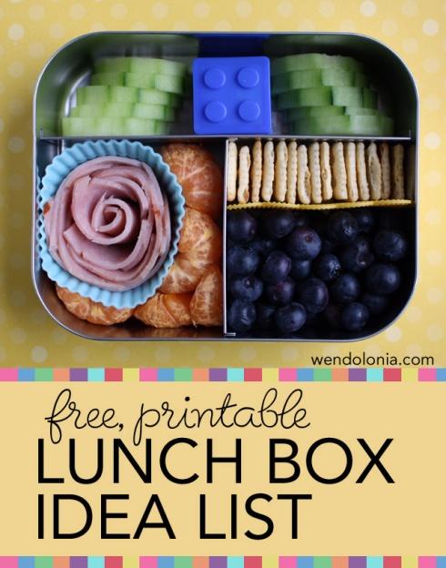 Wendolonia Lunch-Box-Idea-List
