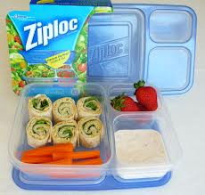 Ziplock divided containers