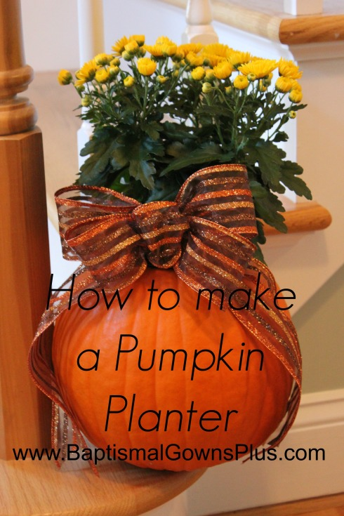 how to make a pumpkin planter