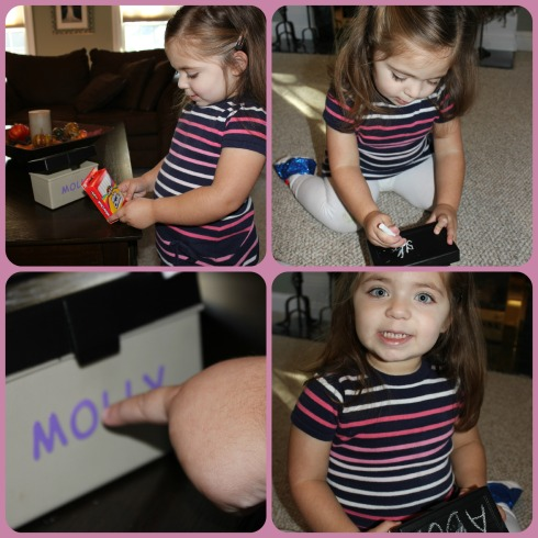 Molly with ABC box