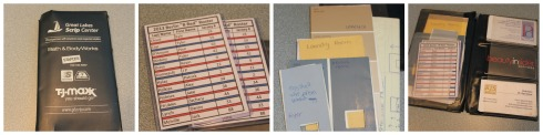 paint chips, rosters and business cards