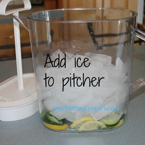 detox drink - add ice