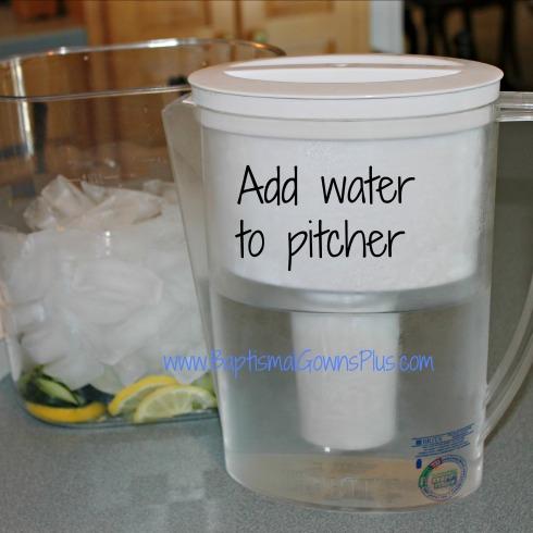 detox drink - add water