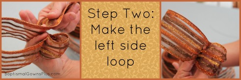 Make the left side of the loop - like when you make the loop when you are tying your shoes...