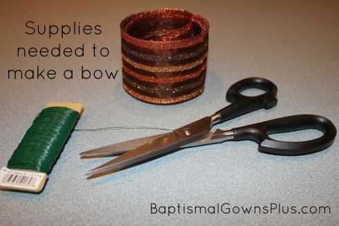 make a bow - supplies needed