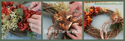 Autumn wreath - dry-fit