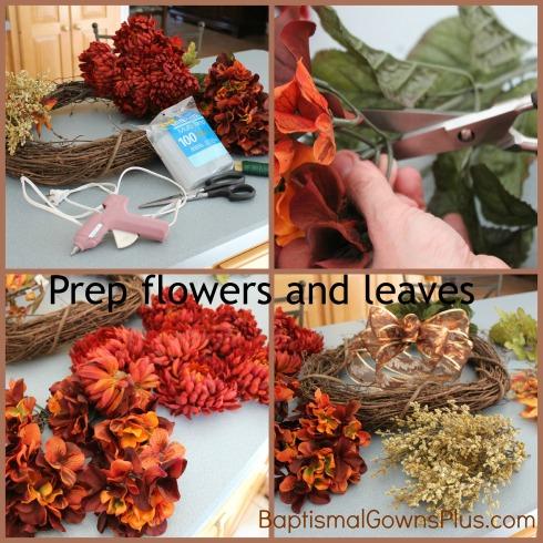 Autumn wreath - prep