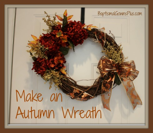 Make an autumn wreath