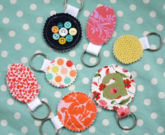 Fabric Scrap Key Chain