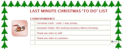 last minute - correspondence