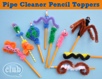 Pipe Cleaner Pencil Topper